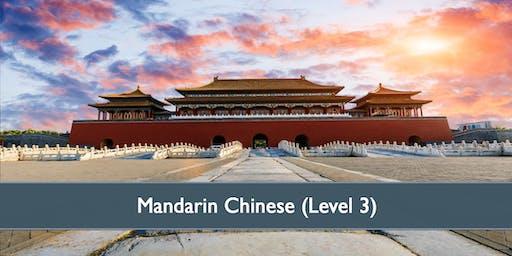 Mandarin Chinese (Level 3) - April 2019