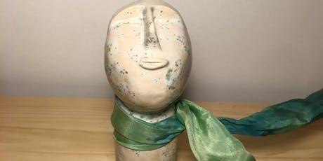 UP.Acessórios - Colar de gravata seda com peça em cerâmica, by Brâmica bilhetes