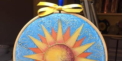 Silk Painted Suncatchers