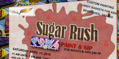 Sugar Rush Sweet Paint & Sip with Appetizers & Beverages