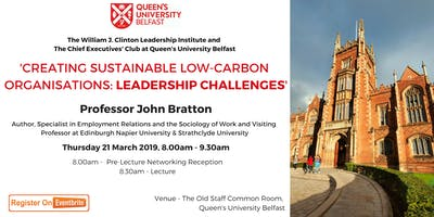 Creating Sustainable Low-Carbon Organisations: Leadership Challenges