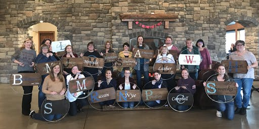 DIY Wine Barrel Hoop Sign at Windy Hills Winery
