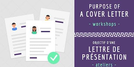 Objective d'une lettre de présentation/ Purpose of a Cover Letter tickets