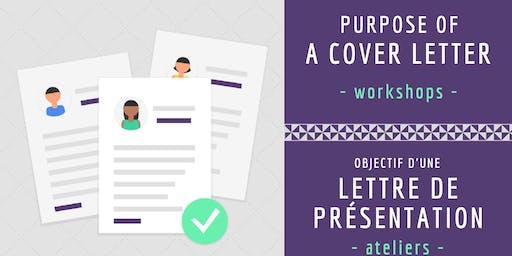 Objective d'une lettre de présentation/ Purpose of a Cover Letter