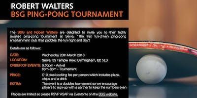 BSG Ping-Pong Tournament - Serve