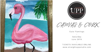 Canvas & Cork | Cute Flamingo