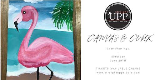 Canvas & Cork | Cute Flamingo