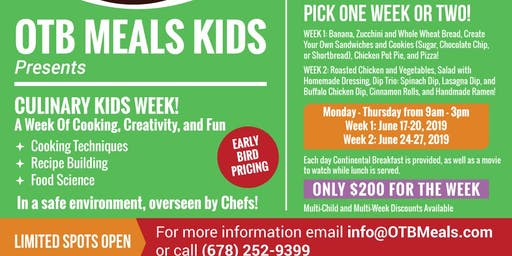 Culinary Kids Week!
