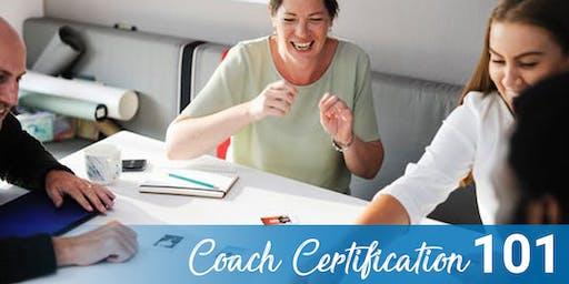 Coach Certification (CC) 101 in Austin, TX 10-18-19