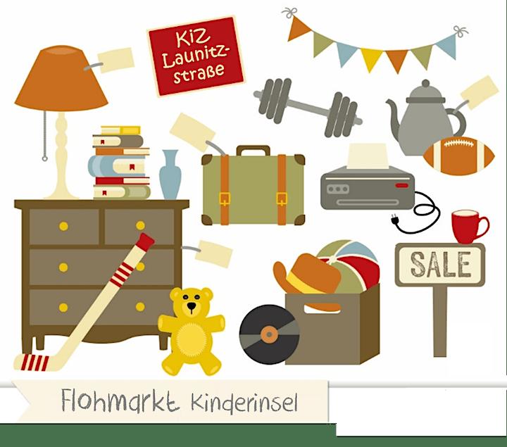 Flohmarkt Kinderinsel - Launitzstrasse Frankfurt - 30. Oktober 2021: Bild