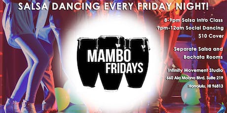 Latin Dance Party Hawaii (Salsa, Bachata, Merengue) - Mambo Fridays tickets