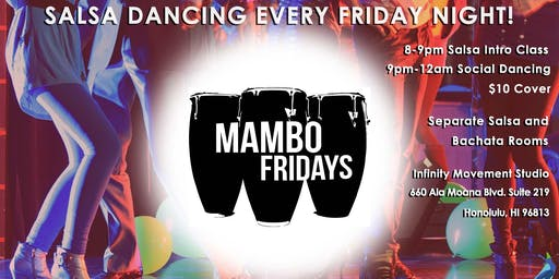 Latin Dance Party Hawaii (Salsa, Bachata, Merengue) - Mambo Fridays