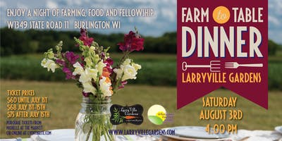LarryVille Gardens Farm to Table Dinner 2019