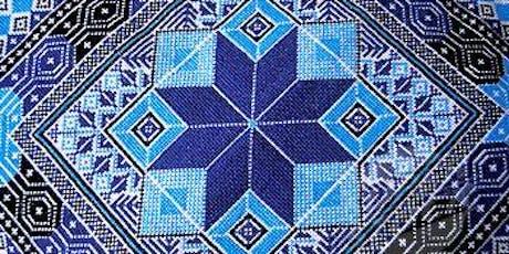 Palestinian Tatreez Embroidery: Waste Canvas on Denim tickets