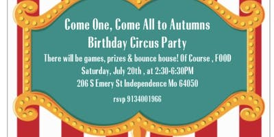 Autumns Turns 4! Carnival Party
