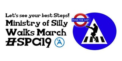 Ministry of Silly Walks March at #SPC19 - #SPCSillyWalks