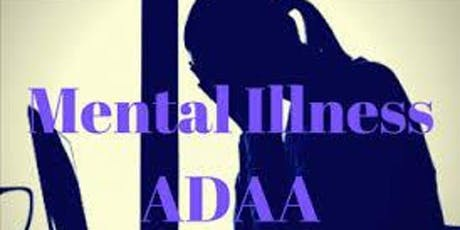 """Mental Illness, ADAAA, and the Workplace: Taking Responsibility as an Employer"""". HRCI 1.5 Live Webinar tickets"""