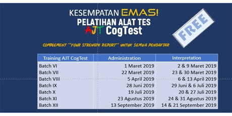 AJT CogTest - Test Administration Training tickets