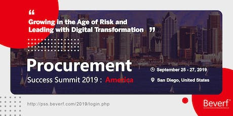 Procurement Success Summit 2019 America tickets