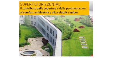 TORINO - Superfici orizzontali. Il contributo delle coperture e delle pavimentazioni al comfort ambientale e alla salubrità indoor