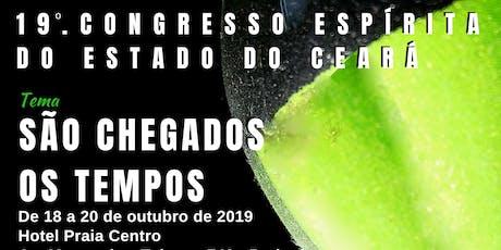 19o. Congresso Espírita do Estado do Ceará ingressos