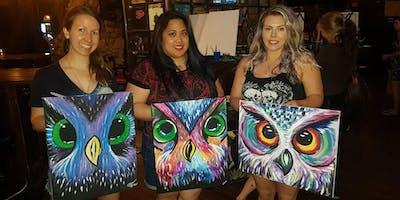 Paint the Fabulous Abstract Owl! @ Edith & Arthur Public House Surrey