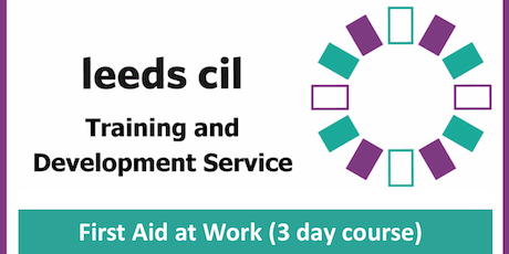 First Aid at Work (3 day course - 3rd, 4th and 9th September) tickets