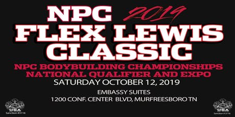 Athlete Registration for 2019 NPC Flex Lewis Classic tickets