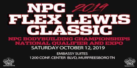 Athlete Registration for 2019 NPC Flex Lewis Classic tickets