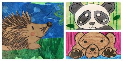 How to Draw Animals Homeschool Weekly Class (5-12 Years)