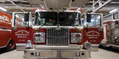 Barrie FireStation Tour - Junior (9 to 12 yr olds)