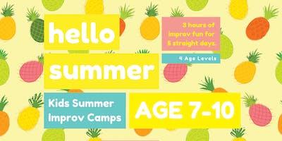 KIDS IMPROV SUMMER CAMPS ★ AGE 7-10 ★