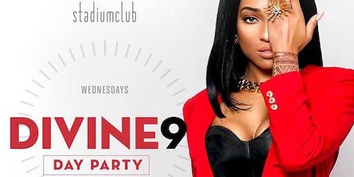 """DIVINE 9 DAY PARTY"" $5PATRON+HAPPY HR FOOD |STADIUM DC| #STADIUMWEDNESDAYS"