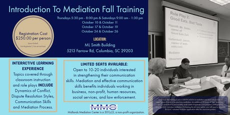 Introduction To Mediation - Fall Training tickets