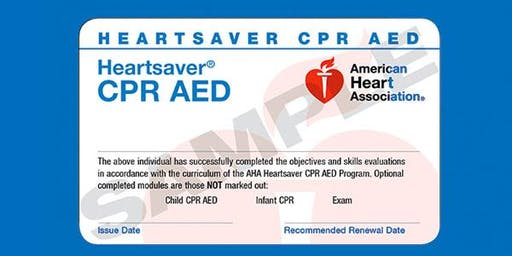 Elmhurst Fire Department Heartsaver® CPR AED Class