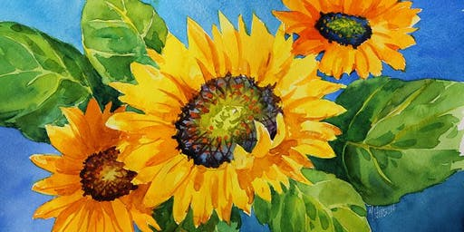 Watercolor Workshop: Summer Sunflowers