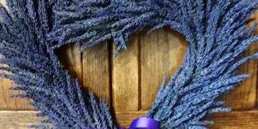 Lavender Heart Wreath Workshop at Wisteria Acres