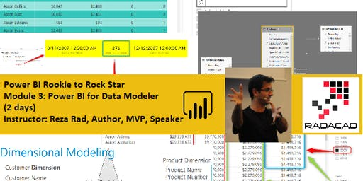 Power BI from Rookie to Rock Star - Module 3: Power BI for Data Modeler (Data Modelling and DAX) – Auckland Time Zone 2 days course