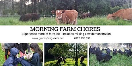 Grace Springs Farm - Morning Chores Tour -  tickets
