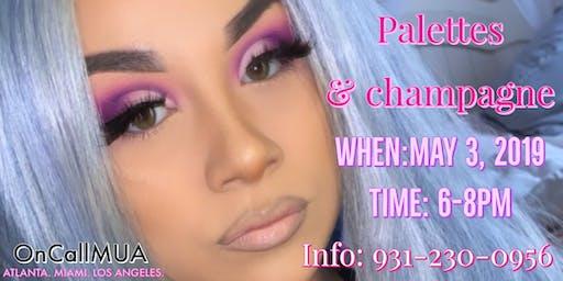 Palettes & Champagne Makeup Class
