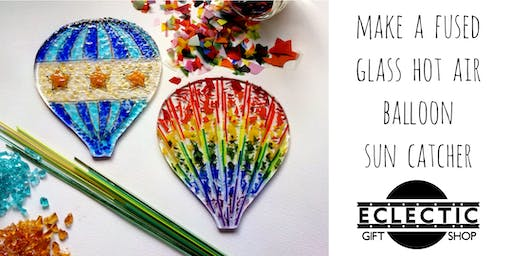 Create a Fused Glass Hot Air Balloon Sun Catcher with The Glass Cabin