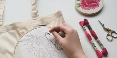 Embroidered Tote Bag Workshop
