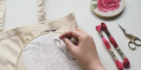 Embroidered Tote Bag Workshop tickets