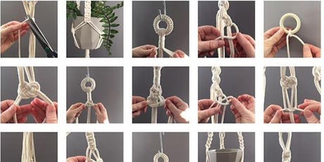 Design your own macrame plant hanger workshop - suitable for beginners tickets