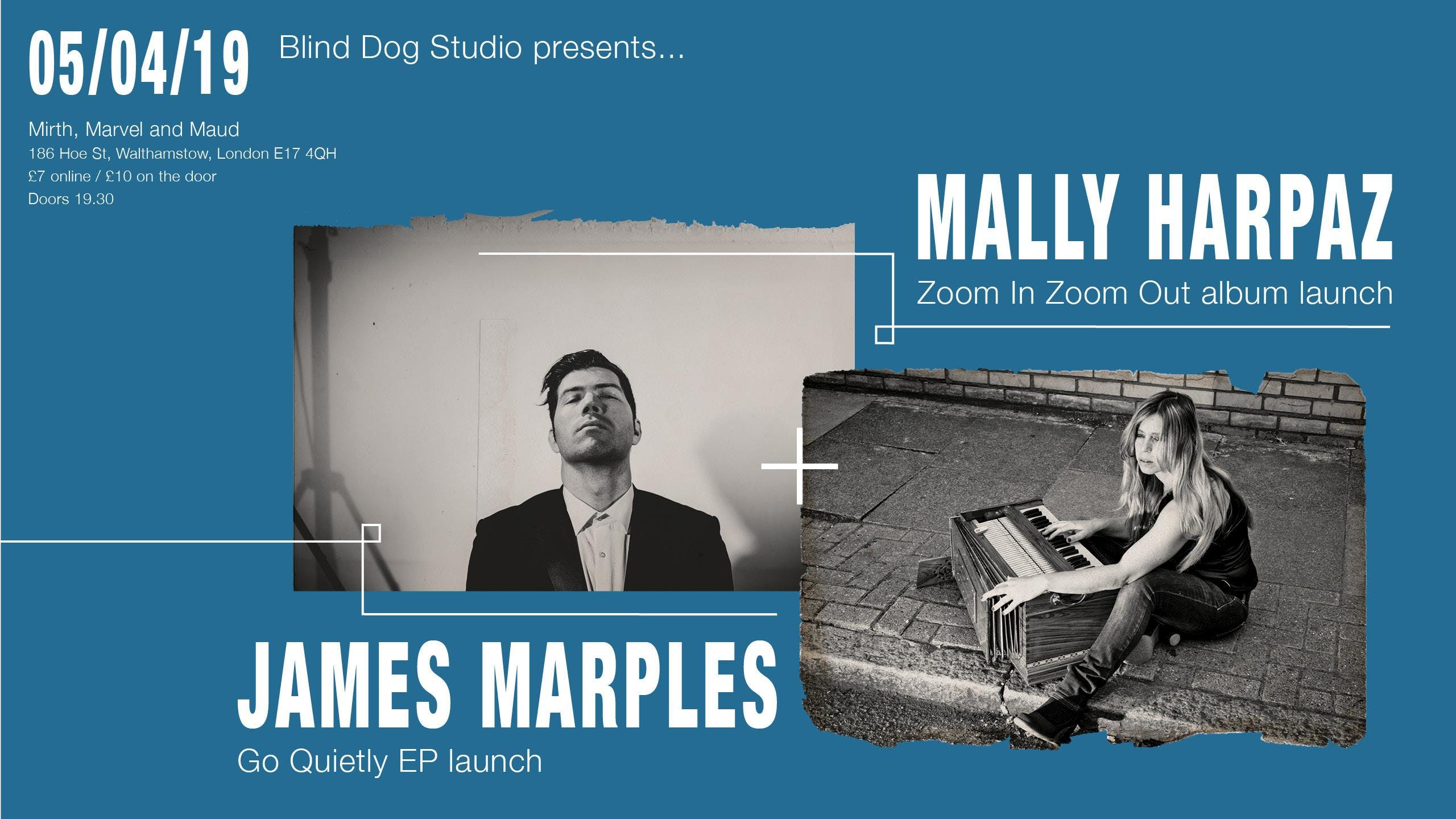 MALLY HARPAZ  + JAMES MARPLES  / ALBUM + EP LAUNCH