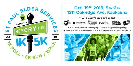 The Memory Lane 5K/1k – Run, Walk, Roll tickets