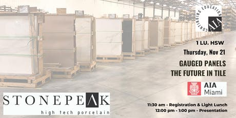 Gauged Panels: The Future in Tile presented by Stonepeak Ceramics  tickets