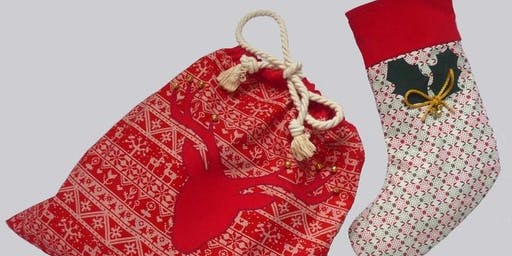 Festive Sewing Workshop - Make a Gorgeous Christmas Stocking or a Santa Sack!