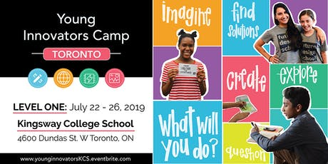 Young Innovators LEVEL 1 Camp - Toronto (West End) tickets