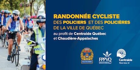 Randonnée cycliste des policiers et des policières de la Ville de Québec billets
